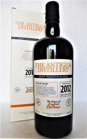 THE ANTIGUA DISTILLERY 2012 HEAVY TRADITIONAL RUM 66% VOL ORIGINALABFÜLLUNG