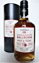 EDRADOUR BALLECHIN 2009 8 JAHRE A CUVEE OF UNPEATED & PEATED MALTS 46% VOL ORIGINALABFÜLLUNG