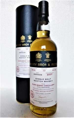 GLEN MORAY 2007 EX-CARONI RUM FINISH 57,4% VOL BERRY BROS & RUDD EXCLUSIVE FOR GERMANY