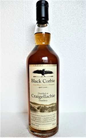 CRAIGELLACHIE 2008 FIRST FILL PX SHERRY QUARTER CASK 58,3% VOL BLACK CORBIE