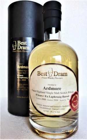 ARDMORE 2008 PEATED EX - LAPHROAIG BARREL 59,2% VOL BEST DRAM