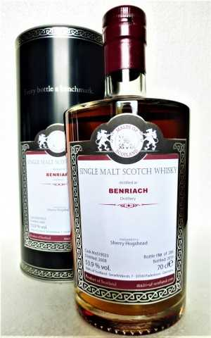 BENRIACH 2008 SHERRY HOGSHEAD 53,9% VOL MALTS OF SCOTLAND