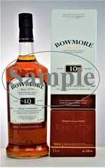 BOWMORE DARK & INTENSE SPANISH OAK SHERRY CASKS & HOGSHEADS 10 JAHRE 40% VOL ORIGINALABFÜLLUNG SAMPLE