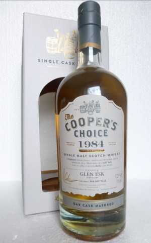 GLEN ESK 1984 REFILL BUTT 51% VOL COOPERS CHOICE