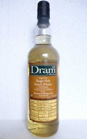 ROYAL BRACKLA 2001 SHERRY HOGSHEAD 61,3% VOL C&S DRAM COLLECTION