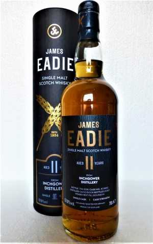 INCHGOWER 2008 FIRST FILL BOURBON CASK 57,8% VOL JAMES EADIE EXCLUSIVE FOR GERMANY