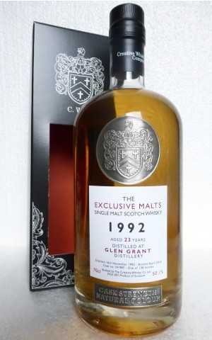 GLEN GRANT 1992 DAVID STIRK EXCLUSIVE MALTS 50,1% VOL THE CREATIVE WHISKY COMPANY