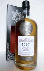 DISTILLED AT AN ISLAY DISTILLERY 2007 DAVID STIRK EXCLUSIVE MALTS 56,3% VOL THE CREATIVE WHISKY COMPANY