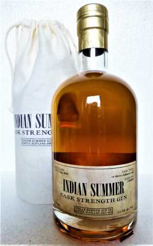 INDIAN SUMMER CASK STRENGTH GIN EX-AULTMORE SHERRY CASK 55,5% VOL DUNCAN TAYLOR