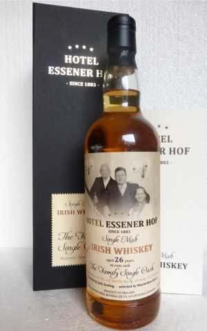 SINGLE MALT IRISH WHISKEY 1989 HOTEL ESSENER HOF, HIST. SERIE NO.10: THE FAMILY SINGLE CASK EX RUM CASK 53,8% VOL