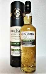 GLEN SCOTIA 2002 SINGLE CASK REFILL BOURBON BARREL HEAVILY PEATED 55,2% VOL ORIGINALABFÜLLUNG