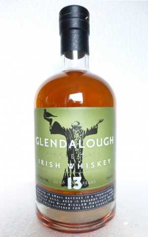 GLENDALOUGH 13 JAHRE SINGLE MALT IRISH WHISKEY BOURBON CASK 46% VOL ORIGINALABFÜLLUNG