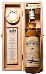 "GLEN KEITH 1995 BOURBON CASK 51,6% VOL JACK WIEBERS RIVER ELBE THE OLD PADDLE STEAMER ""LEIPZIG"""
