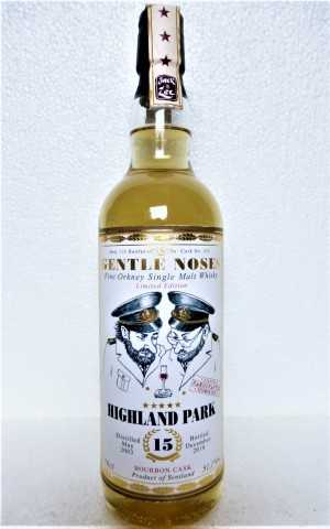 HIGHLAND PARK 2003 BOURBON CASK 51,1% VOL GENTLE NOSES COLLECTION JACK WIEBERS