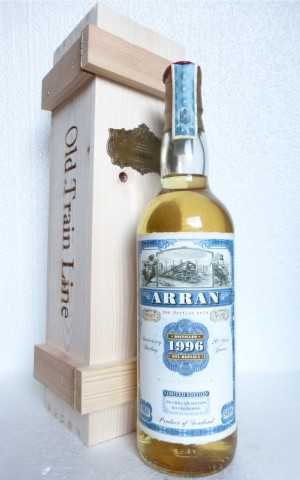 ARRAN 1996 REPLICA-ABFÜLLUNG 20 JAHRE 54,6% VOL JACK WIEBERS OLD TRAIN LINE