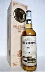 "ALLT-Á-BHAINNE 1995  BOURBON CASK 49,9% VOL JACK WIEBERS RIVER ELBE THE OLD PADDLE STEAMER ""DRESDEN"""