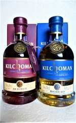 KILCHOMAN AM BÙRACH UND MACHIR BAY RUBY PORT CASK FINISH UND BOURBON & SHERRY CASK 46% VOL ORIGINALABFÜLLUNG BUNDLE