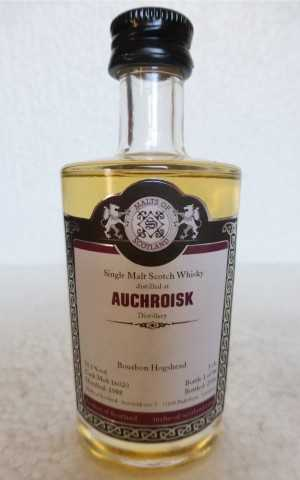 AUCHROISK 1988 BOURBON HOGSHEAD 51,1% VOL MALTS OF SCOTLAND MINIATUR