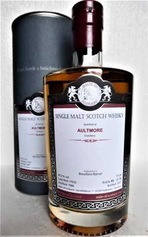 AULTMORE 1986 BOURBON BARREL 49,2% VOL MALTS OF SCOTLAND