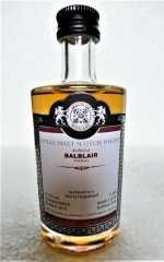 BALBLAIR 2013 SHERRY HOGSHEAD 57,2% VOL MALTS OF SCOTLAND MINIATUR