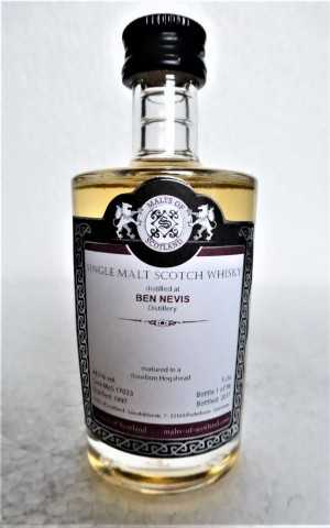 BEN NEVIS 1997 BOURBON HOGSHEAD 48,1% VOL MALTS OF SCOTLAND MINIATUR