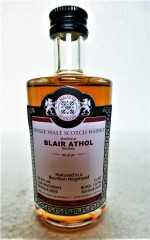 BLAIR ATHOL 2009 BOURBON HOGSHEAD 56,3% VOL MALTS OF SCOTLAND MINIATUR