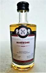 BOWMORE 2000 BOURBON HOGSHEAD 53,3% VOL MALTS OF SCOTLAND MINIATUR
