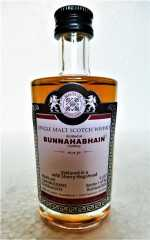 BUNNAHABHAIN PEATED 2013 REFILL SHERRY HOGSHEAD 49,6% VOL MALTS OF SCOTLAND MINIATUR