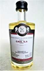 CAOL ILA 2012 BOURBON HOGSHEAD 54,1% VOL MALTS OF SCOTLAND MINIATUR