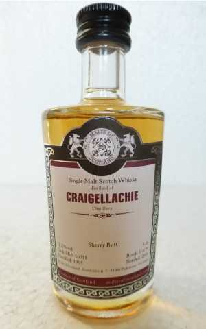 CRAIGELLACHIE 1995 SHERRY BUTT 52,2% VOL MALTS OF SCOTLAND MINIATUR