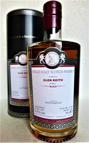 GLEN KEITH 1999 SHERRY HOGSHEAD 51,9% VOL MALTS OF SCOTLAND