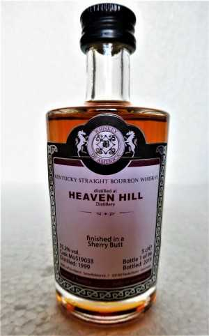 HEAVEN HILL 1999 KENTUCKY STRAIGHT BOURBON WHISKEY SHERRY BUTT 20 JAHRE 55,2% VOL MALTS OF SCOTLAND MINIATUR
