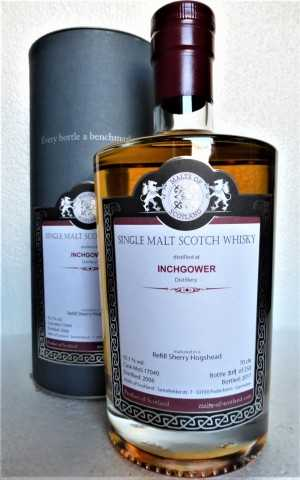 INCHGOWER 2006 REFILL SHERRY HOGSHEAD 55,1% VOL MALTS OF SCOTLAND