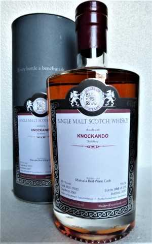 KNOCKANDO 2007 MARSALA RED WINE CASK FINISH 52,1% VOL MALTS OF SCOTLAND