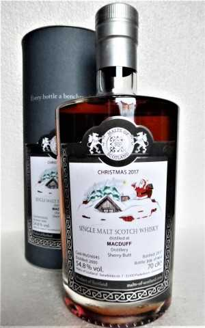 MACDUFF 2000 CHRISTMAS BOTTLING 2017 SHERRY BUTT 54,8% VOL MALTS OF SCOTLAND