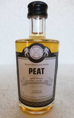 MOS PEAT 10 JAHRE 46% VOL MALTS OF SCOTLAND MINIATUR