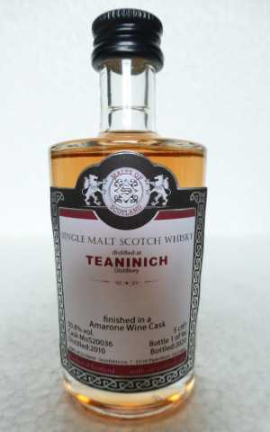TEANINICH 2010 AMARONE RED WINE CASK FINISH 50,8% VOL MALTS OF SCOTLAND MINIATUR