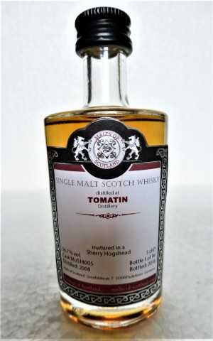 TOMATIN 2008 SHERRY HOGSHEAD 56,7% VOL MALTS OF SCOTLAND MINIATUR