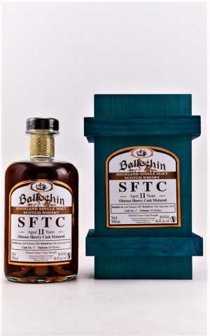 EDRADOUR BALLECHIN 2007 SFTC STRAIGHT FROM THE CASK OLOROSO SHERRY CASK 60,4% VOL ORIGINALABFÜLLUNG