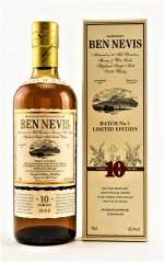 BEN NEVIS 10 JAHRE CASK STRENGTH BATCH #1 62,4% VOL ORIGINALABFÜLLUNG