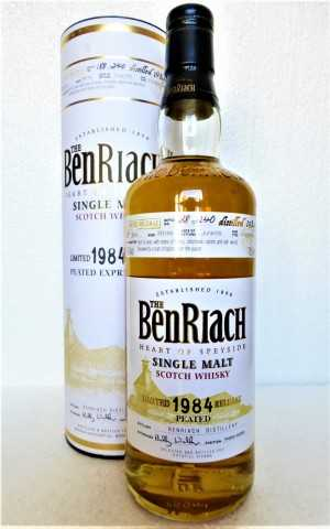 BENRIACH 1984 BOTTLED FOR POTSTILL WIEN PEATED HOGSHEAD 60% VOL ORIGINALABFÜLLUNG