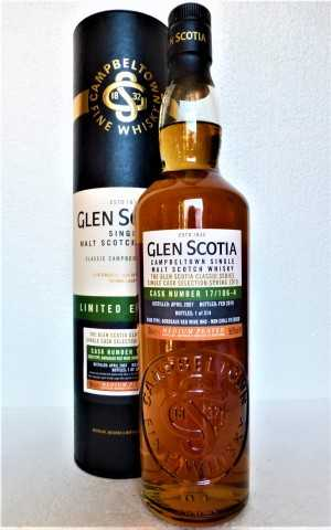 GLEN SCOTIA 2007 SINGLE CASK BORDEAUX RED WINE HOGSHEAD MEDIUM PEATED 56,9% VOL ORIGINALABFÜLLUNG