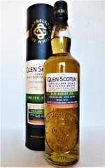 GLEN SCOTIA 2008 SINGLE CASK FIRST FILL BOURBON BARREL UNPEATED 53% VOL ORIGINALABFÜLLUNG