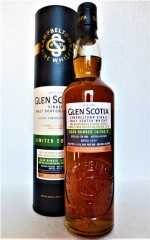 GLEN SCOTIA 2008 SINGLE CASK FIRST FILL RUBY PORT HOGSHEAD MEDIUM PEATED 54,4% VOL ORIGINALABFÜLLUNG