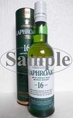 LAPHROAIG 16 JAHRE BOTTLED TO CELEBRATE THE 200TH ANNIVERSARY OF LAPHROAIG 43% VOL ORIGINALABFÜLLUNG SAMPLE
