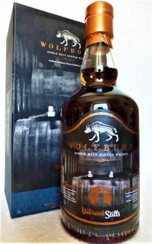 WOLFBURN VIBRANT STILLS PEDRO XIMENEZ SHERRY HOGSHEADS 50% VOL SMALL BATCH RELEASE FOR GERMANY