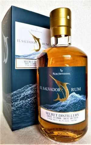 EL SALVADOR SINGLE CASK RUM 2008 10 JAHRE 46,3% VOL RUM ARTESANAL