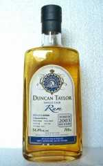 GUYANA 2003 DIAMOND DISTILLERY SINGLE CASK RUM 54,4% VOL DUNCAN TAYLOR