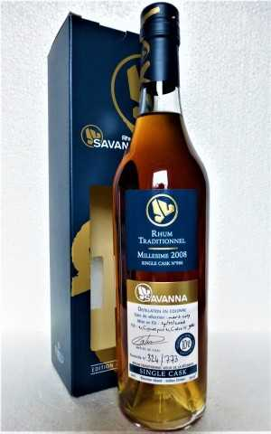 SAVANNA 2008 SINGLE CASK RUM EX- COGNAC CASK FINISHED IN EX-CALVADOS CASK 53,4% VOL ORIGINALABFÜLLUNG