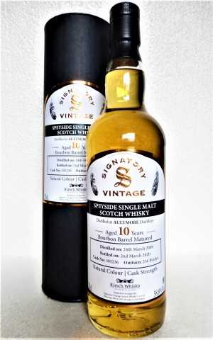 AULTMORE 2009 EXCLUSIVE FOR GERMANY BOURBON BARREL 58,8% VOL  SIGNATORY